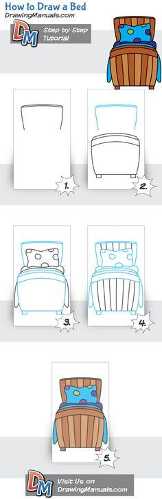 How to Draw a Bed drawingmanuals.co...