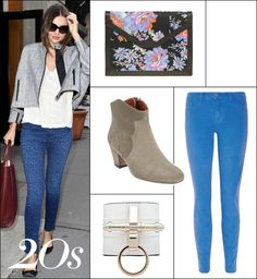 Look on the bright side in vibrant skinnies offset with rock 'n' roll extras