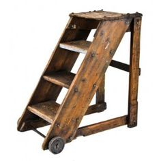 Industrial stepladder from Urban Remains wooden vintage library factory steps Repinned by www.silver-and-grey.com