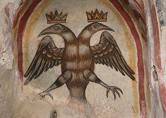 Inner Mani, Keria, C. Church of St John: the Byzantine eagle Imperial Eagle, Double Headed Eagle, Roman Empire, Byzantine, Eagles, Saints, Arms, Gallery, Painting