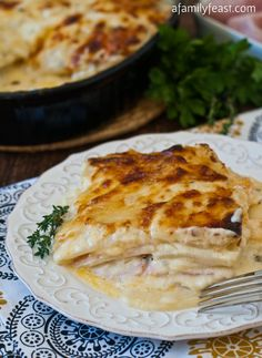Scalloped Ham and Potato Casserole - Scalloped Potatoes with Cheese and Ham added turns this into super delicious comfort food!