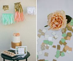 Fun Gender Reveal Party in Peach, Mint, and Gold