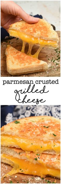Parmesan Crusted Grilled Cheese Sandwich is everything you love about the classic PLUS a crispy buttery, garlic and parmesan crust! You'll never make them the same way again!