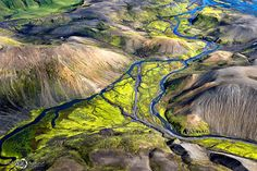 Aerial Landscapes of Iceland by Sarah Martinet. (via Breathtaking Aerial Landscapes of Iceland by Sarah Martinet Aerial Photography, Landscape Photography, Nature Photography, Scenic Photography, Night Photography, Iceland Landscape, Aerial Images, Colossal Art, Landscape Pictures