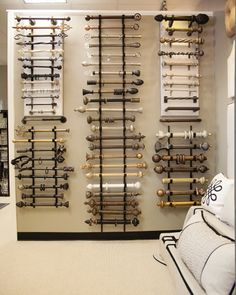 Drapery Design's rod hardware collection in our Paoli Showroom www.drapery-design.com