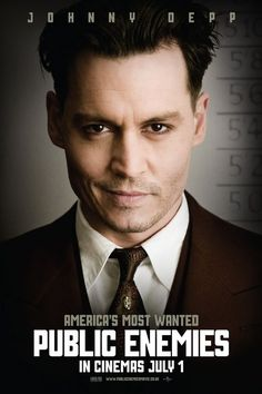 johnny depp movie posters | Johnny Depp Public Enemies movie poster
