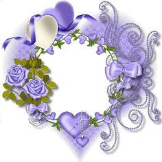 Purple Heart Frames | Purple Heart Transparent Frame