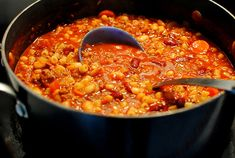 Copycat Olive Garden Pasta e Fagioli Soup made with ground beef instead of sausage