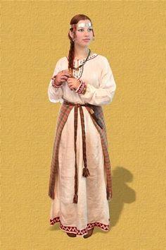 Славянский костюм рконструкция