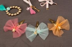 tulle bow clips Welcome to JUDYALLEN