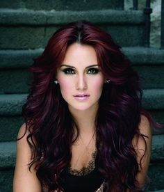 actress, dark red hair, different, different hair, dulce maria, eyes, girl, girl style, hair, hot, hot girl, make up, people, red, red hair, style, red hair style