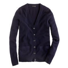 Navy cashmere boyfriend cardigan, size small, $238. Okay, it's expensive. But goodness knows how often I wear cardigans.