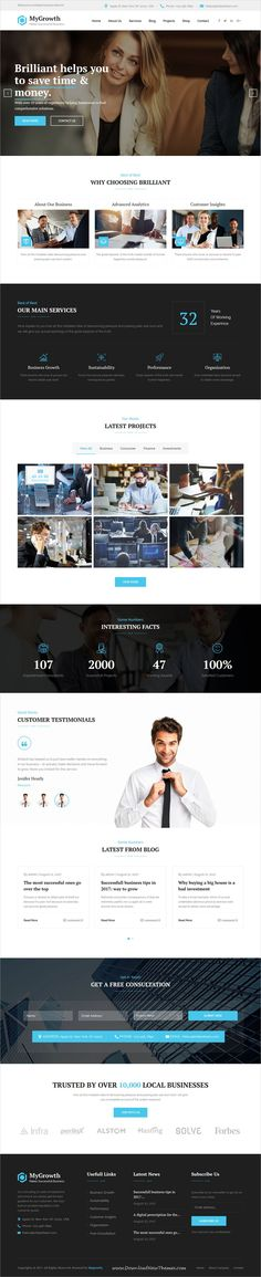 My Growth is clean and modern design responsive #WordPress theme for business #consulting and professional services website to live preview & download click on Visit #webdesigns