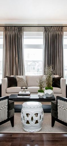 transitional living room neutrals