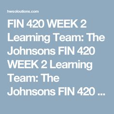 Fin  Week  Personal Financial Goals And Personal Financial