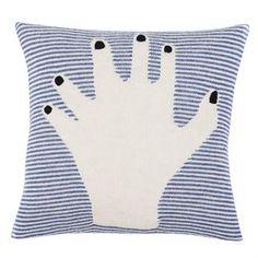 Fancy Finger cushion cover - blue - Luckyboysunday