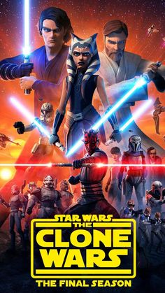 """The final season of StarWars: The Clone Wars starts streaming Feb. 21 on DisneyPlus About the series From Dave Filoni, director and executive producer of """"The Mandalorian,"""" the new Clone Wars episo… Star Wars Clone Wars, Star Wars Clones, Ver Star Wars, Star Wars Ships, Images Star Wars, Star Wars Pictures, Pixar, Star Trek Enterprise, Star Trek Voyager"""