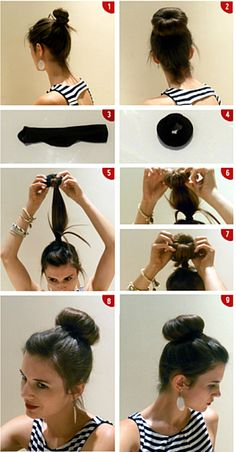 Awesome video tutorial for making a big ballerina bun using a sock.