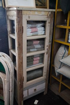 Recycled timber display cabinet made from old windows and doors — Kabinett in Australia