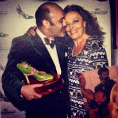 #FFANY #FBF the gorgeous Diane Von Furstenberg & Christian Louboutin at QVC Presents 'FFaNY Shoes On Sale'! Support the fight against breast cancer the entire month of October by shopping QVC.com and the live SOS broadcast Oct. 10th from 6-9pm EST! http://qvc.co/FFANY-ShoesonSale