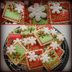 Cookies for a Polar Express party at J Christopher Toys  that was originally auctioned off earlier in the year at the JA Charity Ball . Tha...