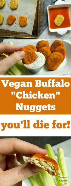 "Vegan Buffalo ""Chicken"" Nuggets You'll Die For 