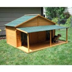 "need 4 of these double dog houses for my kennel runs.  gates only 34"" wide so... will build them in two parts..lean-too style (in the shed since it is 15 below zero,  and add the porch once it is inside the runs."