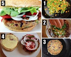 TUTO : SUCCOMBEZ AU BURGER VÉGÉTARIEN ! Menu, C'est Bon, Salmon Burgers, Ethnic Recipes, Food, Eat, Dish, Graphic Design, Eten