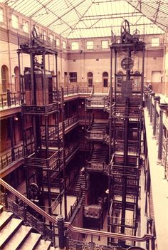 The original Bradbury Building interior used in #BladeRunner (1982) as JF Sebastian's home.