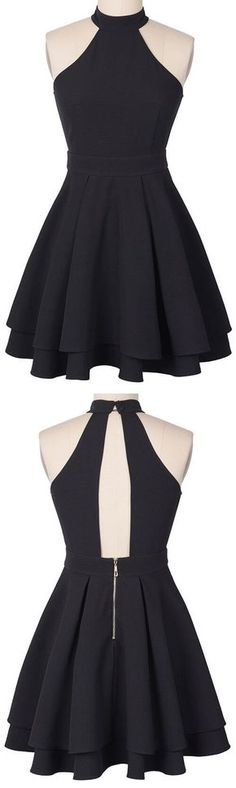 Follow Luna Tusuna for tons more beautiful, high quality images~♪☽♪☽⓴+➎☾♪☾♪ This is so beautiful; open back unique structured two tiered layered skirt black probably good for dancing ♡