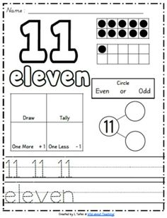 Here's a HUGE pack that includes handwriting practice, ten frame examples, even vs. odd, one more, one less, number partners, etc. for each number 0-100 (in both print and manuscript tracing fonts).