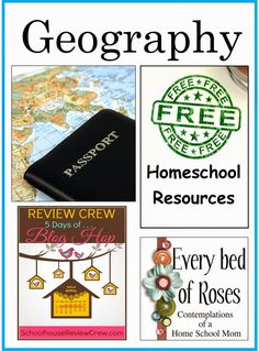 Every Bed of Roses: Huge list of FREE Geography Resources for Homeschool. #geography #homeschool #free