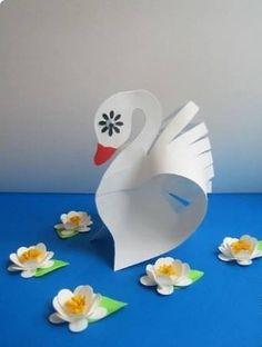 Paper Animal Crafts, Paper Animals, Bird Crafts, Metal Crafts, Fun Crafts, Crafts For Kids, Paper Crafts, Diy Origami, Origami Paper