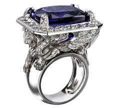 Diamond  Tanzinite Ring - Magerit - Babylon collection