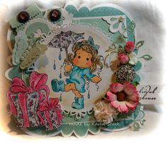 card make with stamps and dies from www.magnoliastamps.us  #div #magnolia stamps #card making #bridal shower