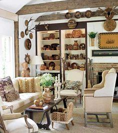 Designer Dan Carithers Atlanta family room.