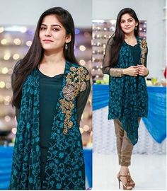 List Of Top 3 Sanam Baloch Morning Shows New Pakistani Dresses, Indian Dresses, Beautiful Dresses For Women, Pretty Dresses, Sanam Baloch Dresses, Simple Formal Dresses, Girls Dresses, Dresses For Work, Dress Picture