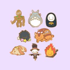 This is a PREORDER item and will only be available in APRIL 2018. Any orders made with preorder items will be shipped only when the item is ready. A cheeky ditto has transformed into various anime movie characters! This is a set of 8 pins inspired by Studio Ghibli. [Details] Laputa