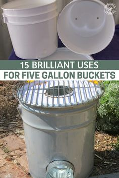 15 Brilliant Uses for Five Gallon Buckets Five Gallon Bucket, 5 Gallon Buckets, Chicken Feeders, Chicken Coops, Making Water, Rocket Stoves, Canned Chicken, Water Dispenser, Growing Vegetables