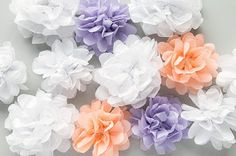 Parti Ponponu Süsleme Fikirleri - Neşeli Süs Evim - Ücretsiz Doğum Günü Süsleri Paper Pom Poms, Unicorn Birthday Parties, Diy Flowers, Summer Party Decorations, Diy Wedding Decorations, Diy Party Props, Wedding Pom Poms, Bridal Shower Planning, Wedding Paper