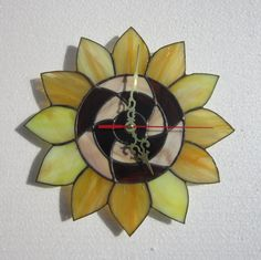 Stained Glass Wall Clock  Unique Wall Clock  Clock by ZangerGlass, $73.00