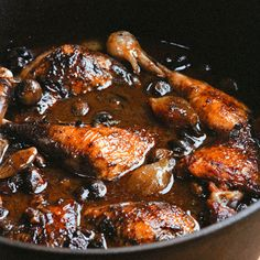 Try Valentine Warner's delicious Coq au vin recipe plus other recipes from Red Online French Recipes Dinner, Dinner Party Recipes, Fall Recipes, New Recipes, Recipies, Bacon Fries, French Food, Chicken Casserole, Perfect Food