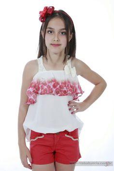 Conjunto Shorts  e Blusa Diforini Moda Infanto Juvenil 121264