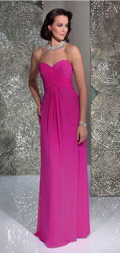Isabel de Mestre - Evenings Abendkleider Kollektion 2016 (Art.15E026): Langes Abendkleid in Pink - sehr schön auch als Brautjungfernkleid.