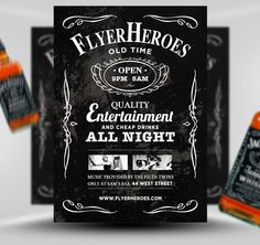 Free Flyer Friday #35 – Whiskey Flyer Template