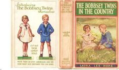 miniature printable Bobbsey Twins book jacket (1907) for Samantha  - American Girl