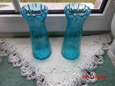 2-alte-Hyazinthenvasen-Hyazinthenglas-Blumenvase-Vase-Glasvase
