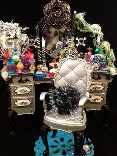 MONSTER HIGH Custom Set of 3 Embellished Bedroom by GhoulsRule, $49.99