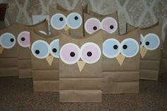 """""""Owl miss you this summer"""" Owl treat bags Sleepover Party, Pajama Party, Slumber Parties, Owl Party Favors, Party Favor Bags, Goodie Bags, Gift Bags, Candy Bags, Owl Treat Bags"""