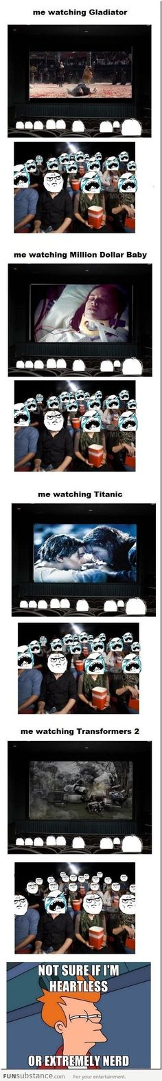 How le me reacts to certain movies